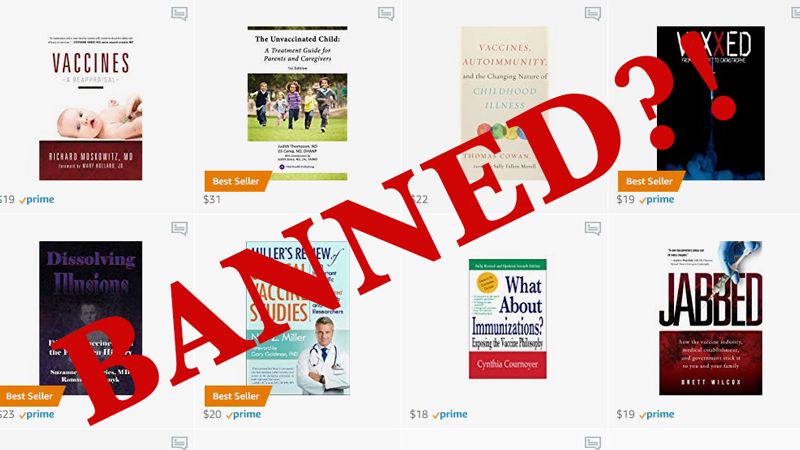 Amazon Censorship Of Vaccine Books